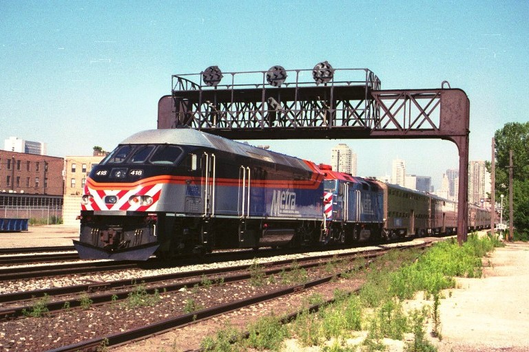 Metra 418 at Chicago, IL