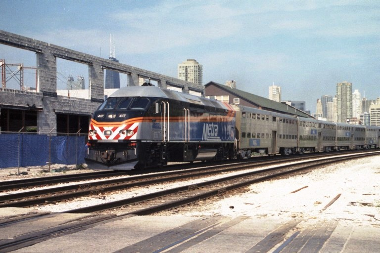 Metra 417 at Chicago, IL